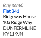 Example of a residential mailbox ID address